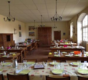 Salle déjeuner de groupe - Château de la Flocellière