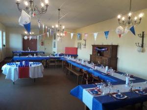 Refectoire transformé en salle de fête, Château de la Flocellière